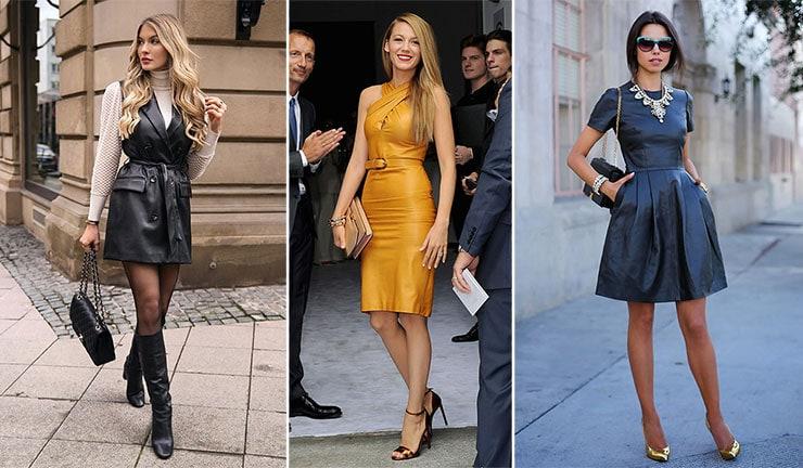 Ιδέες για το πως να συνδυάσεις ένα δερμάτινο φόρεμα